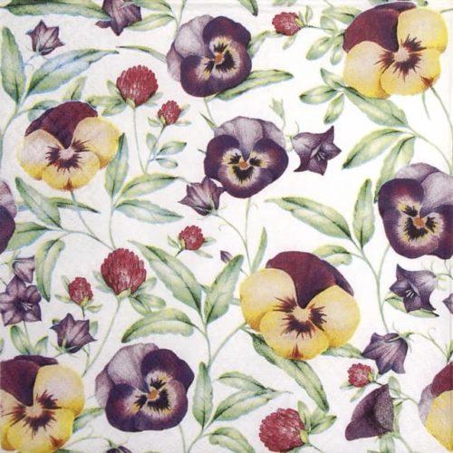 Paper Napkin - Beautiful Pansies TETEáTETE_TL703100