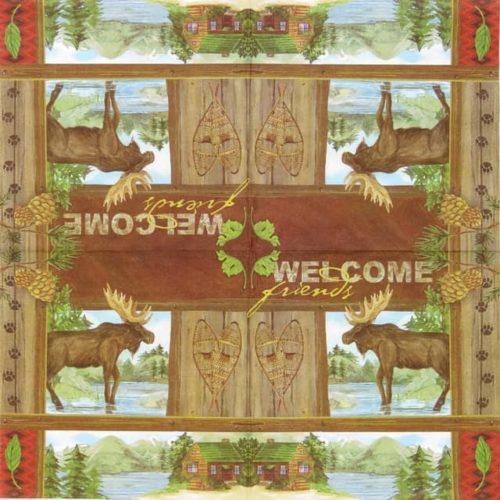 Paper Napkin - Wild Vacation - Welcome Friends