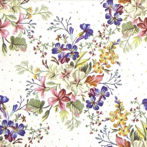 Paper Napkin - Delicate Flowers with Mini Dots_Daisy_SDOG034401