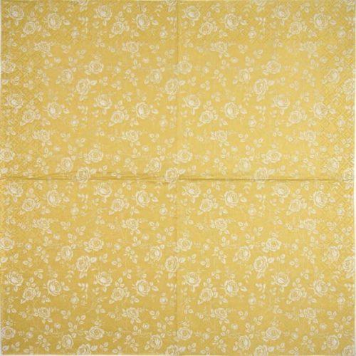 Paper Napkin - Little Roses gold