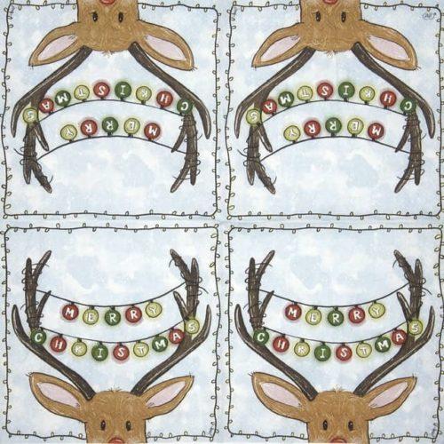 Cocktail Napkin - Merry Reindeer_IHR_C943600