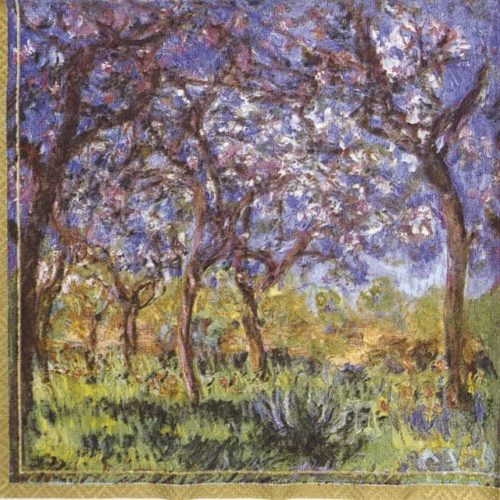 Paper Napkin - Monet: Printemps a Giverny_IHR_435300