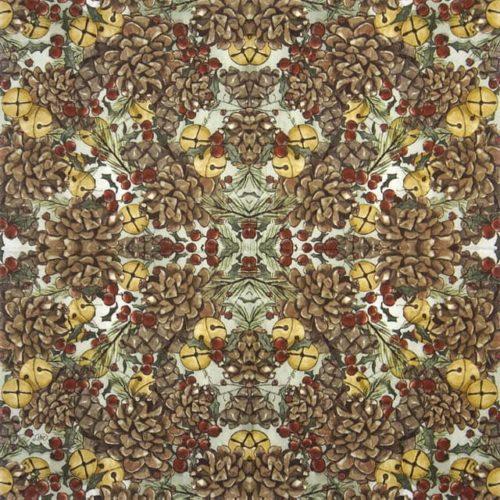 Paper Napkin - Pinecones and Bells_IHR_943400