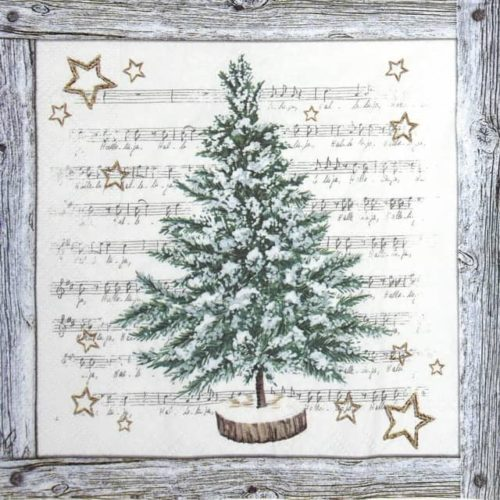 Paper Napkin - White Xmas Tree_IHR_920445