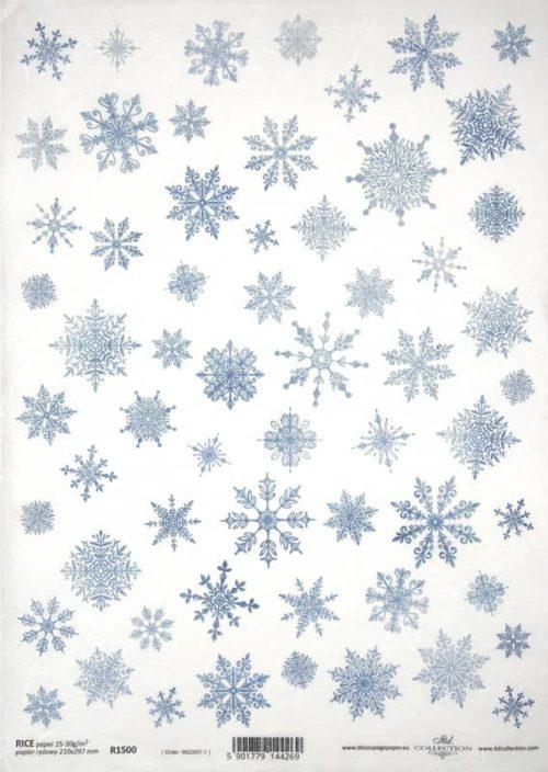 Rice Paper - Snowdrops white_ITD_R1500