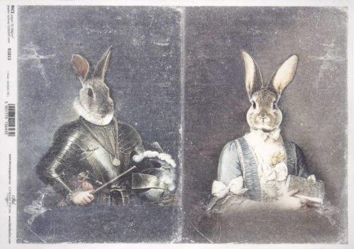 Rice Paper - Rabbit couple_ITD_R1813