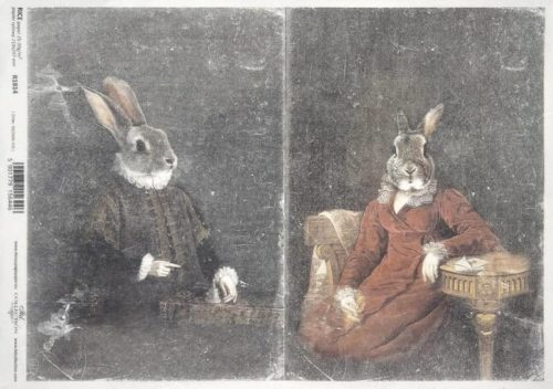 Rice Paper - Rabbit couple_ITD_R1814