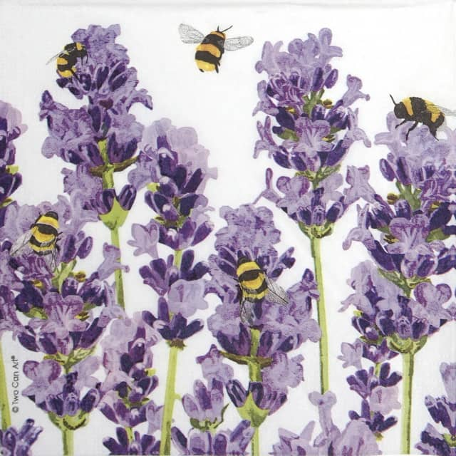Paper Napkin - Two Can Art: Bees & Lavender_PPD_1333956