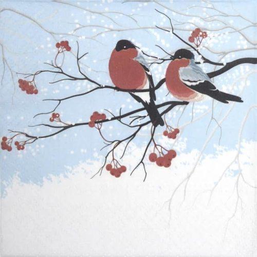 Paper Napkin - Bullfinches_Paw_SDL230200