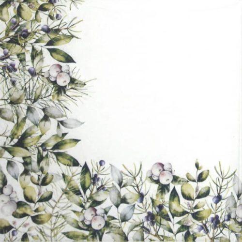 Paper Napkin - Winter Greenery_Paw_SDL232600