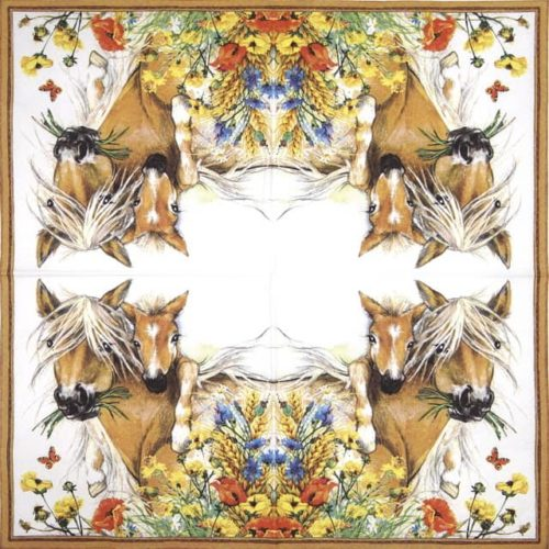 Paper Napkin - Horses in Summer Meadow_Ti-flair_371058
