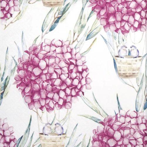 Paper Napkin - Hydrangea Balloons pink_Ti-flair_363402