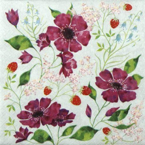 Lunch Napkins (20) - Aurélie Blanz: Flower romance