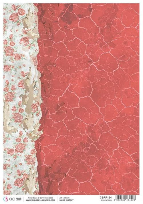 Rice Paper - Ancient Red  - CBRP134