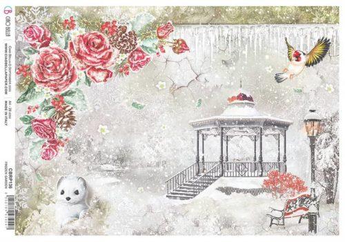 Rice Paper - Frozen Garden  - CBRP136