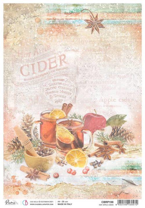 Rice Paper - Hot Apple Cider  - CBRP198