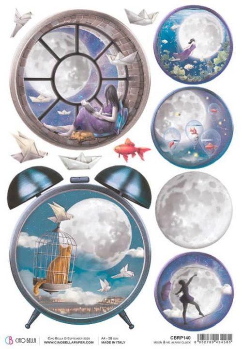 Rice Paper - Moon & Me Alarm Clock  - CBRP140