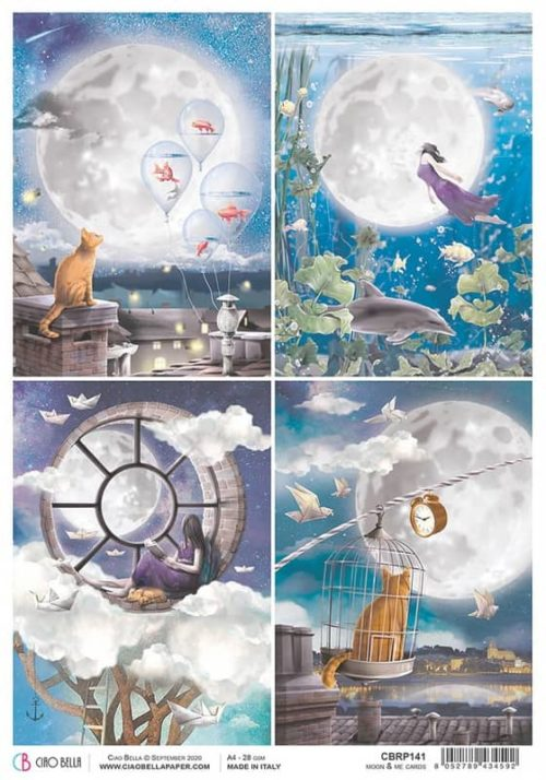 Rice Paper - Moon & Me Cards  - CBRP141