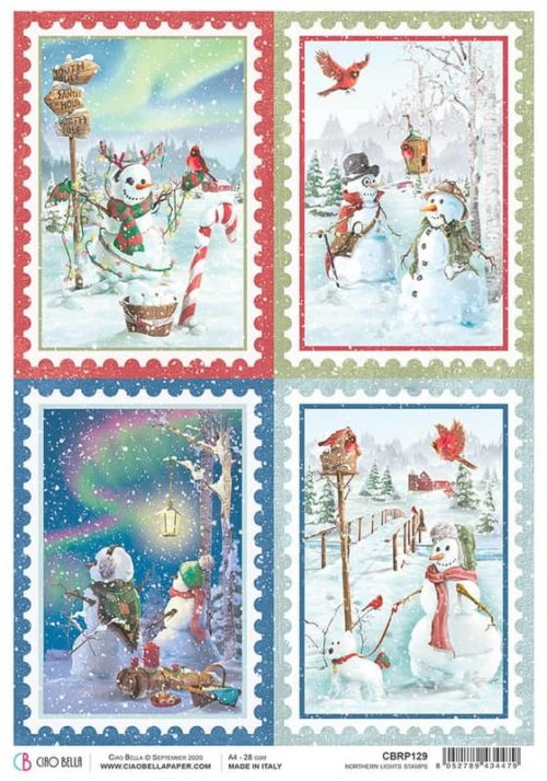 Rice Paper - Northern Lights Stamps - CBRP129