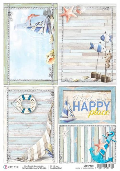 Rice Paper - Summer Cards - CBRP108