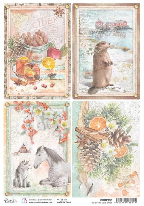 Rice Paper - The Gift of Love Cards  - CBRP195
