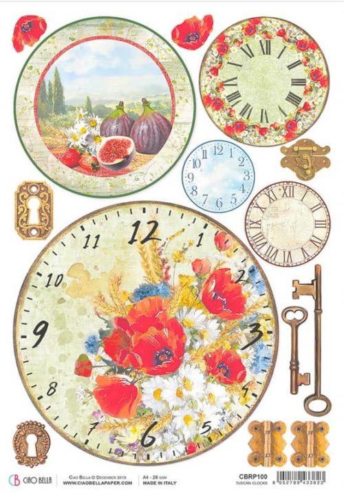 Rice Paper - Tuscan Clock - CBRP100