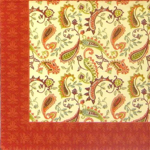 Paper Napkin - Paisley red