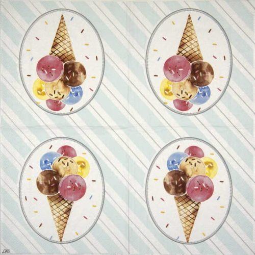 Paper Napkin - Oh Happy Ice Cream light grey