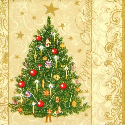 Lunch Napkins (20) - Christmas tree