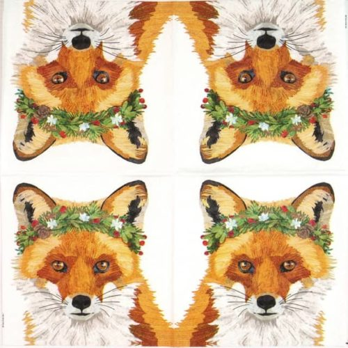 Cocktail Napkin -Two Can Art: Glacier Fox