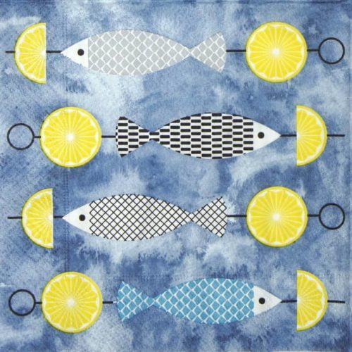 Paper Napkin - I like fish
