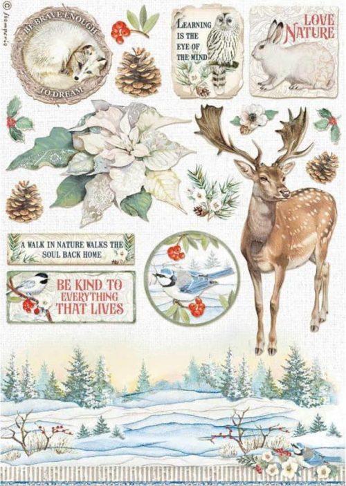 Rice Paper - Winter Tales Poinsettia - DFSA4585
