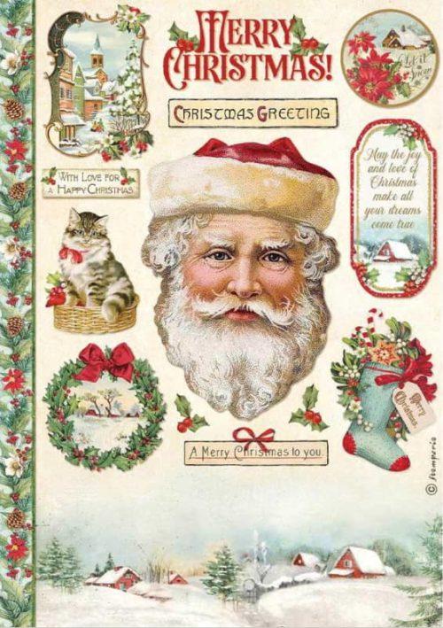 Rice Paper - Classic Christmas Santa Claus - DFSA4593