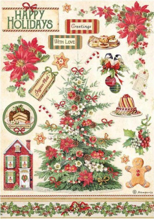 Rice Paper - Classic Christmas Tree - DFSA4594