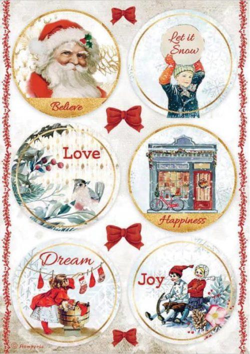 Rice Paper - Romantic Christmas Rounds - DFSA4635